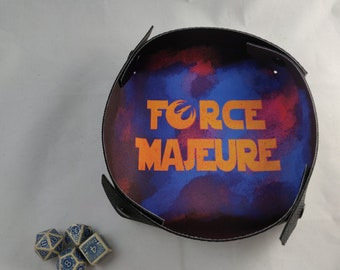 Force Majeure Dice Tray - Soft Neoprene Dice Tray - Fold-able Collapsible Tray - Portable Dice Tray - Lightweight Tray - Board Game Gift