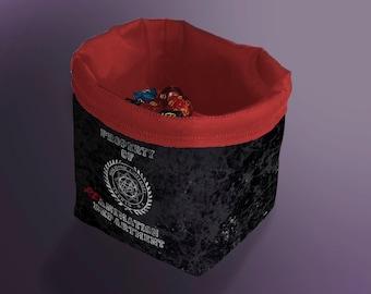 Miskatonic University Dice Bag, Lovecraft Theme Tile Pouch, Arkham Horror Bag of Holding, Treasure Nest, Board Game bag, D&D Draw Bag, Gift