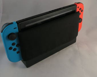 Black Switch Dock Cover - Nintendo Switch Dock Sock - Plain Black Cotton Cover Sleeve - Dock Protector - Dock Cozy - Video Games