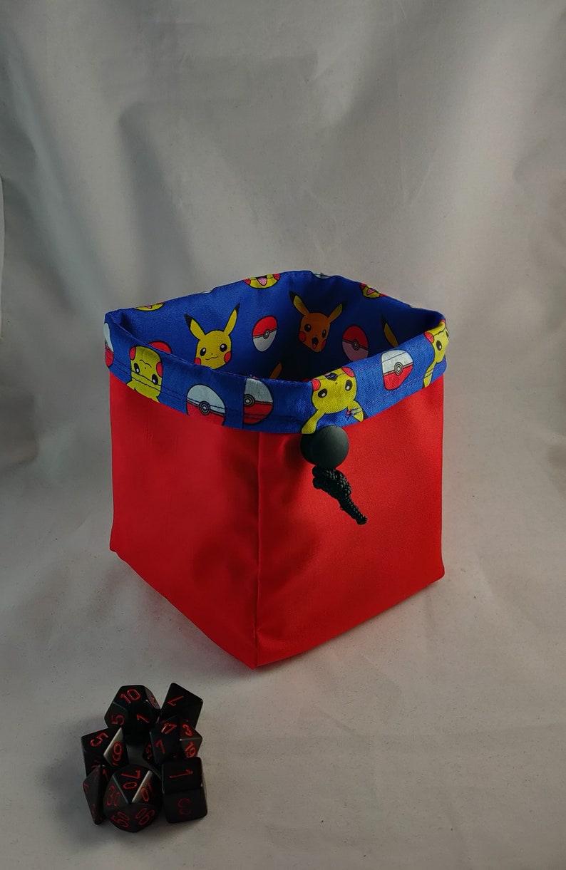 Bag for Dice Video Game D/&D Dice Bag Dice Bag Tile Pouch Token Storage Bag of Holding Drawstring Cotton Bag RPG Gift for Gamers