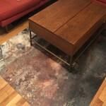Vinyl Floor Mat, Linoleum Rug, PVC Floor Mat, Tie Dye Living Room Rug, Vinyl Area Rug, Linoleum Floor Mat, Tie Dye Room Decor