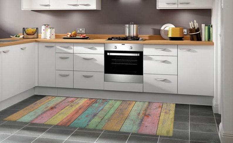 Pvc Vinyl Floor Mat For Kitchen Bedroom Living Room Etsy