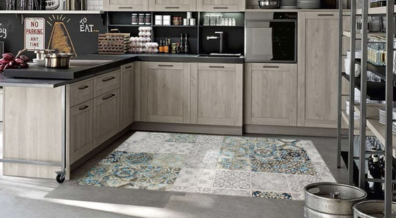 Kitchen Rugs And Mats Vinyl Rug Vinyl Floor Mat Pvc Vinyl Etsy