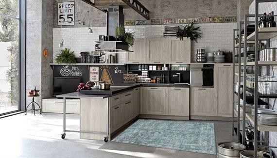 Washable Rug, Vinyl Kitchen Mat, Kitchen Floor Mat, PVC Carpet, Oversized  Area Rug, Oriental Rug, Linoleum Rug, Large Floor Rug