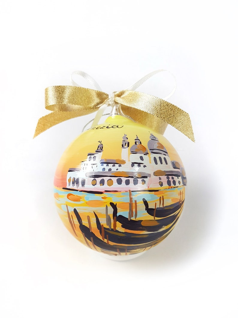 VENICE at sunset personalized Italian city ornament. Ideal 8 cm