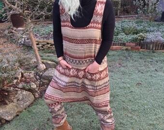 Anna - Blanket Harem Style Romper, Playsuit, Dungarees, Jumpsuit, Boho - Festival -Yoga-