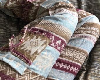 Natasha Plus Size - Baggy Blanket Pants XL , Warm and Comfortable - Elasticated Waist - Boho - Hippie - Festival -Yoga- Harem- Unisex
