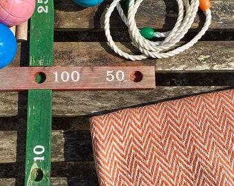 Orange Cream Handwoven Cotton Chevron Pattern Throw Blanket