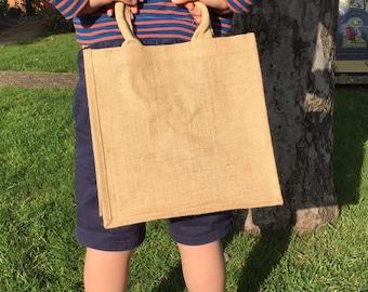 Jute Shopping Bag - Laminated - Foldable- Reusable-Tote
