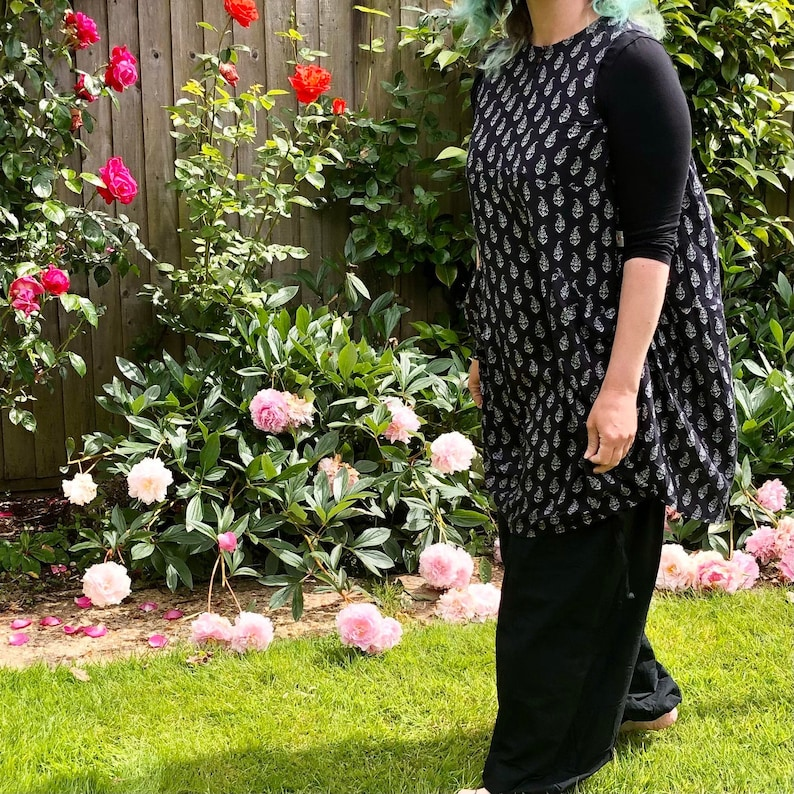 Evie  Balloon Hem Tunic Length Dress Top Cool Comfortable  image 0