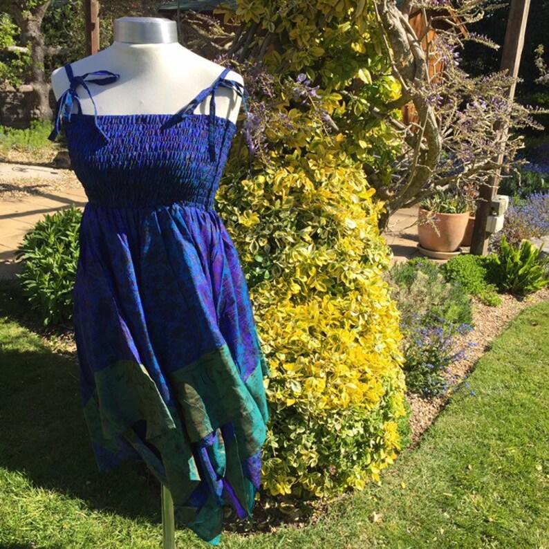 Freya Dress Skirt or Top Adult Fairy Dress  Repurposed Sari image 0
