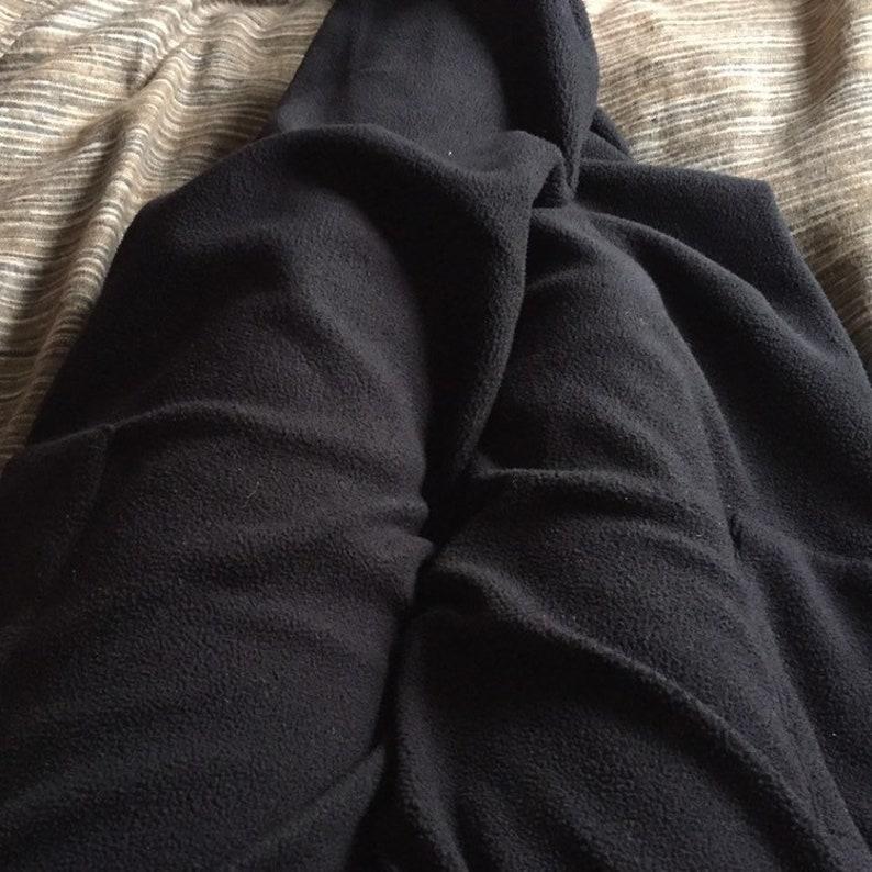 Natasha  Cosy Warm Fleece Harem Pants Black  Boho Style image 0
