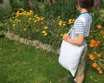 Tote Shopping Bag -Cotton - Foldable- Reusable- Washable Black or White
