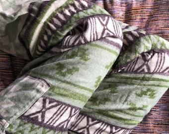 Natasha - Baggy Blanket Pants, Warm and Comfortable, One Size - Elasticated Waist - Boho - Hippie - Festival -Yoga- Harem- Unisex
