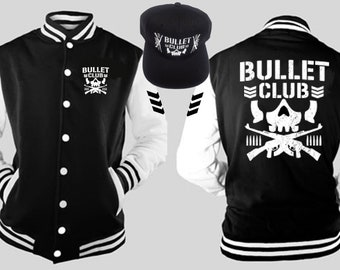 92b4b7c23ebd9 Bullet Club Varsity and Embroidered Snap Back Hook UP S-5X