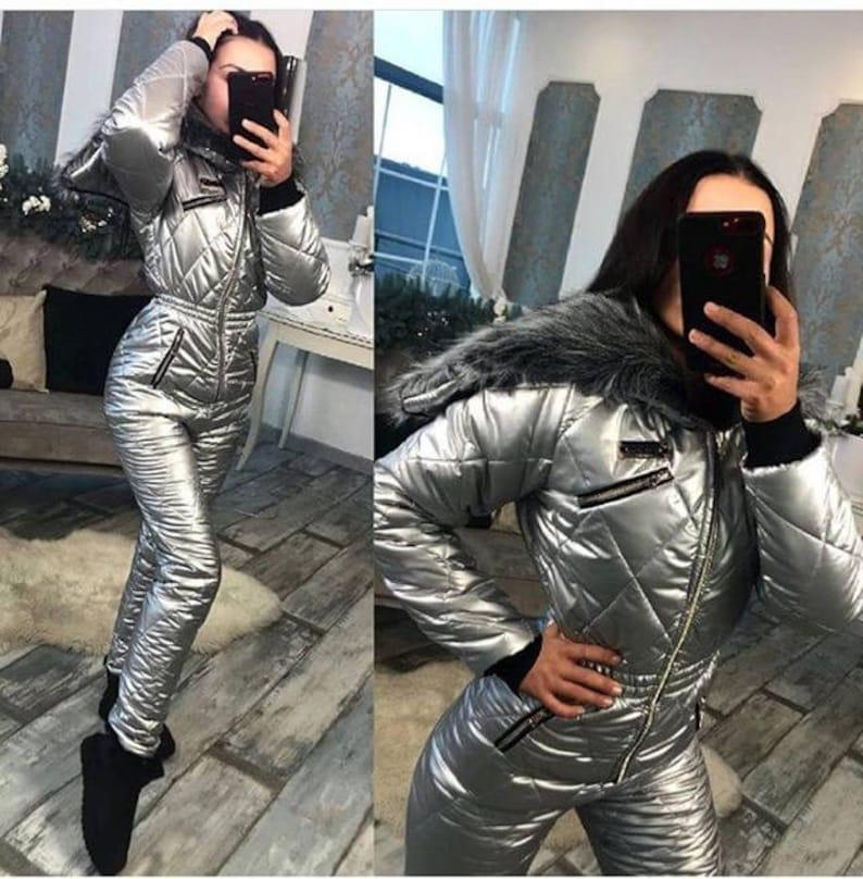 2c674b50e0 Winter Jumpsuit Sport Ski Suit Set Romper Warm Playsuit Fur