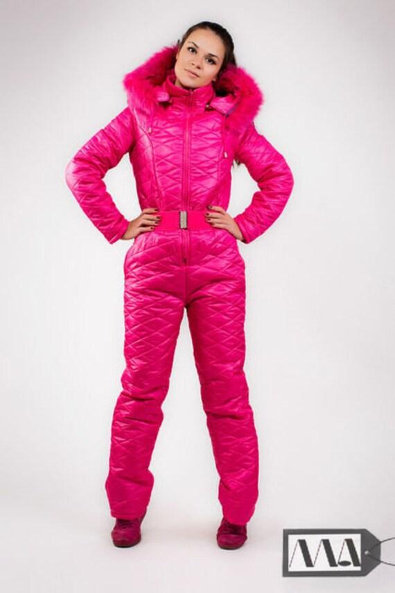 1c795ef0df Winter Jumpsuit Sport Ski Suit Set Romper Warm Playsuit Fur