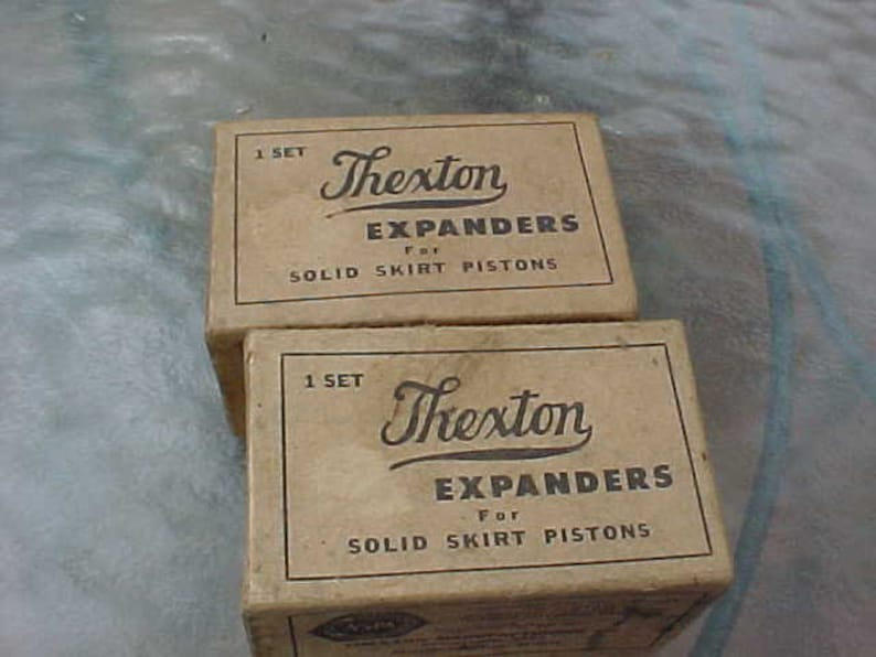 1929-1936 1937-1942 Chevrolet 6 Cylinder Thexton Expanders For Solid Skirt  Pistons 2 NOS Chevy Sets Pre-War Engine Parts Ol OEM Replacement