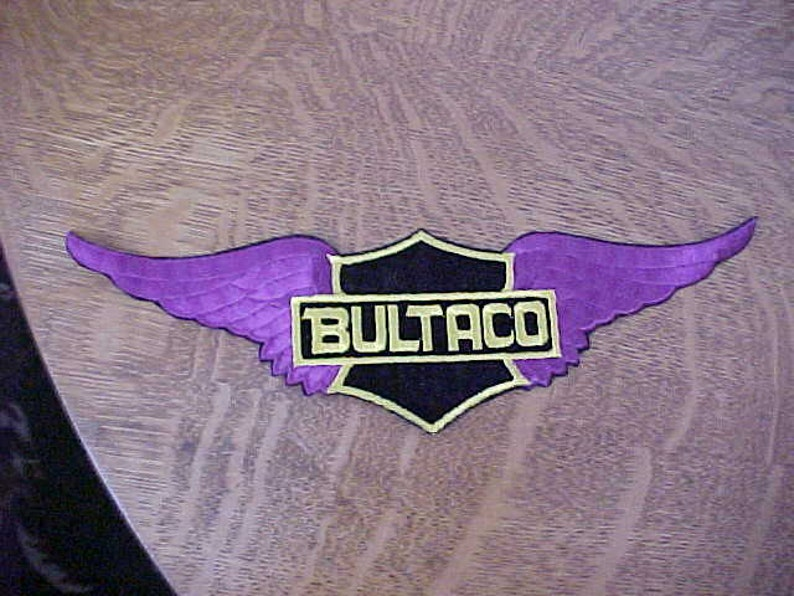 1960s 1970s BULTACO Motorcycle Large Jacket Patch 12