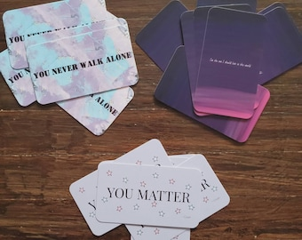Positive Affirmation Cards / Mini Art Prints