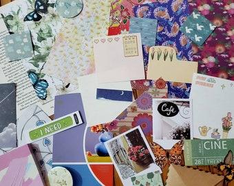 Junk Journal Kit -- Paper Bundle --