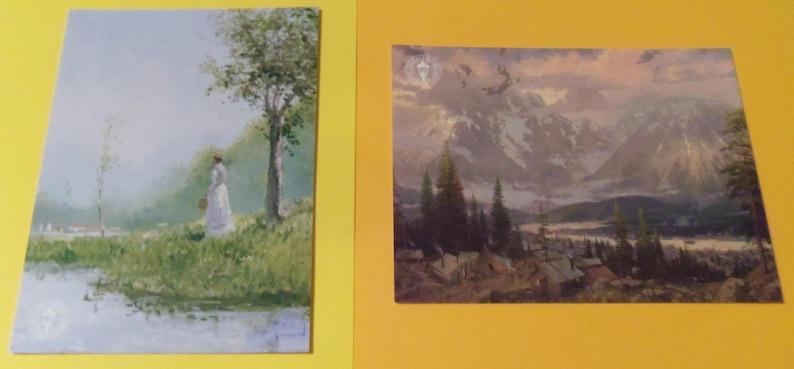 Lot of 8 Rare Thomas Kinkade Promo Art Dealer Cards Postcards Set #1