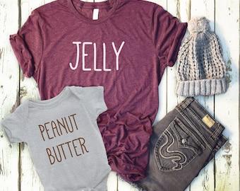 6bf8c90d1c7f Peanut Butter, Jelly, Peanut Butter Shirt, Jelly Shirt, Best Friend Shirt,  mom and Daughter shirt, PB&J, matching tees, sibling shirt, mom