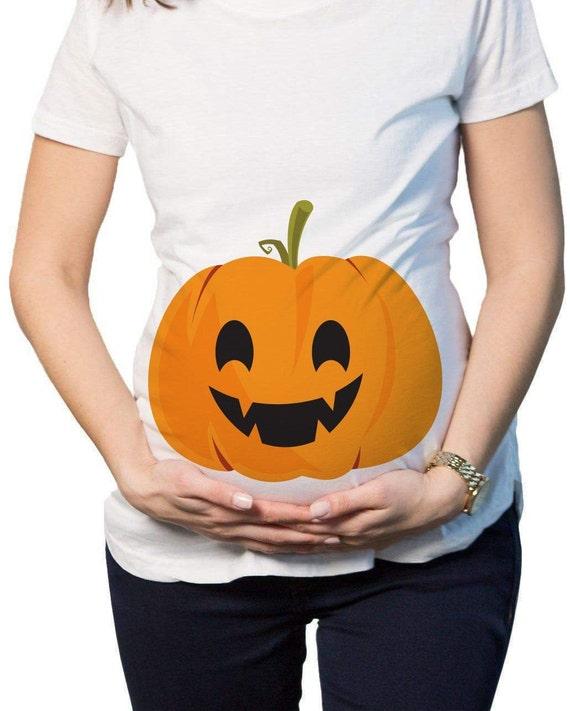 e77f12e7a80 Pumpkin Bump Halloween Maternity T-Shirt Pumpkin Pregnancy