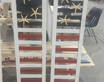 Painted Flag Starfish Shutters
