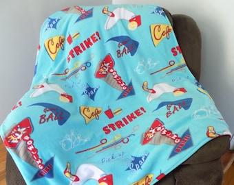 Bowling Alley Fleece Blanket - Bowling Blanket