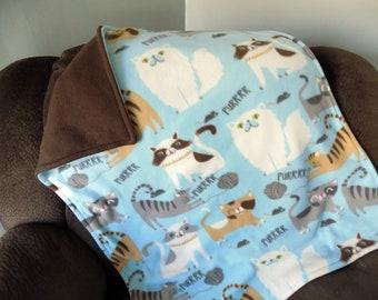 Purrrr Cat Fleece Blanket - Pet Bedding