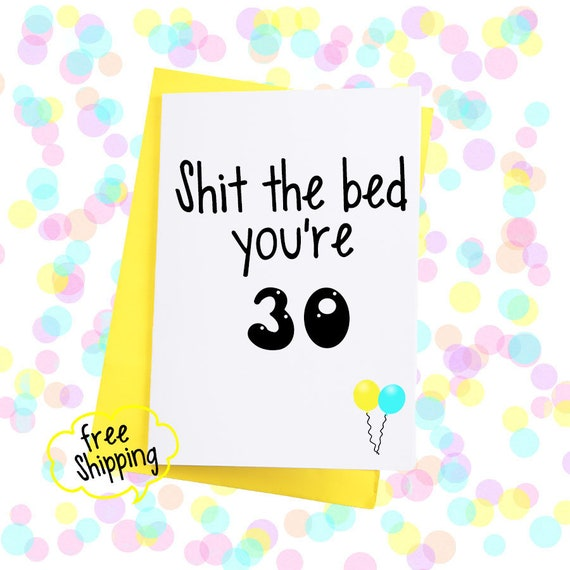 Large A5 Funny 30th Birthday Card 30