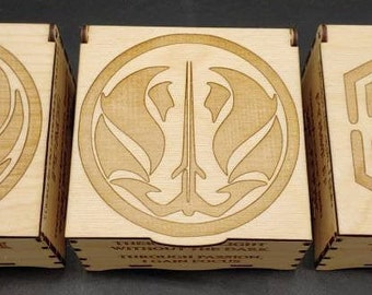 Star Wars Themed Boxes, Laser Cut and Engraved on Wood
