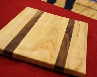 Maple and Walnut Cutting Board/Serving Tray