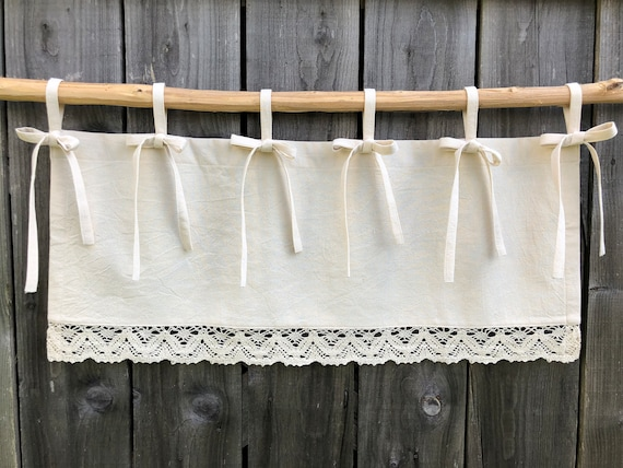 French Country Curtains Cottage Kitchen Lace Valance Simple French Chic  Country Romantic Window Treatment Farmhouse Curtain Valances