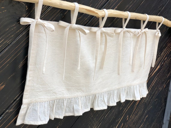 French Country Curtains Cottage Kitchen Ruffle Valance Simple French Chic  Country Ruffled Window Treatment Farmhouse Curtain Valances