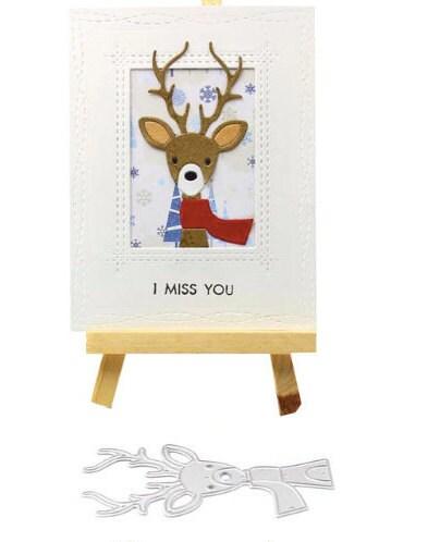 Coupe en métal Dies Scrapbook papier Craft décoration de Noël cerf cerf Noël Scrap gaufrage dossier costume pour Machine de découpe 37daf0