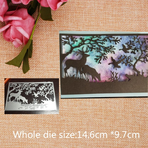 Forest Deer Cutting Dies Embossing Stencil Album Decor Card Paper Craft Fashion