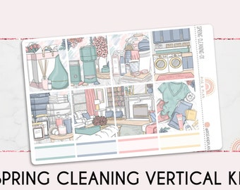 Spring cleaning washi strips planner stickers