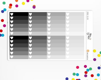 Planner Stickers- Black & Grey Ombre Checklists