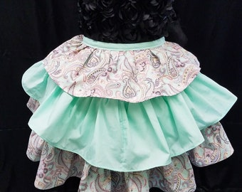 Dainty and Sweet in Mint Green and Paisley