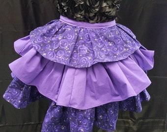 Purple galaxy Swirl Eos Ruffle Bustle