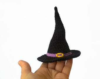 Doll witch hat Halloween gift Witch hat toy Halloween decor Hat dolls Witch's cap Black hat doll Halloween toy Halloween party decor Hat pet