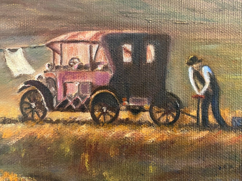 Original Oil Painting of Depression Era Scene Signed by ...