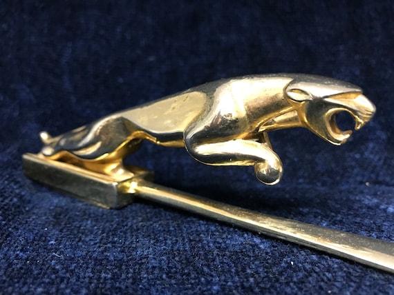 Vintage Jaguar Leaping Cat Brass Shoehorn and Art