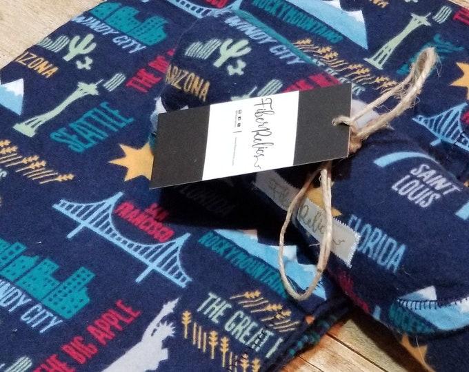 US Landmarks Flannel Blanket
