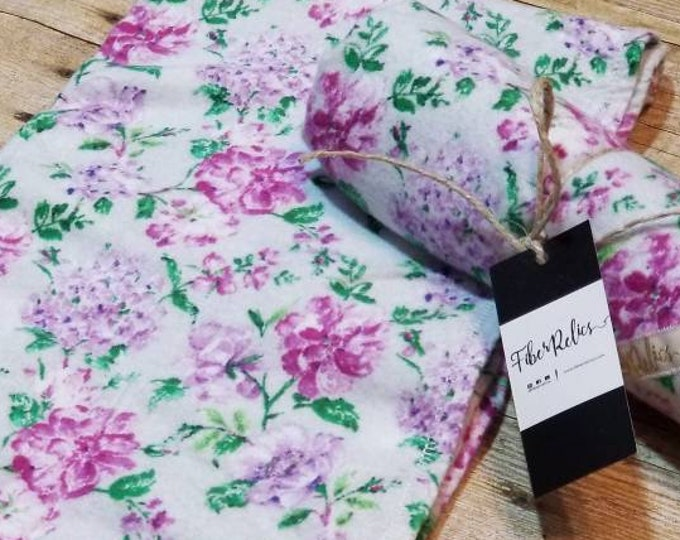 Luxe Purple Floral Flannel Blanket