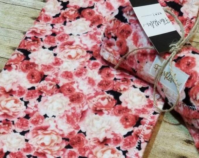 Pink Roses Flannel Blanket
