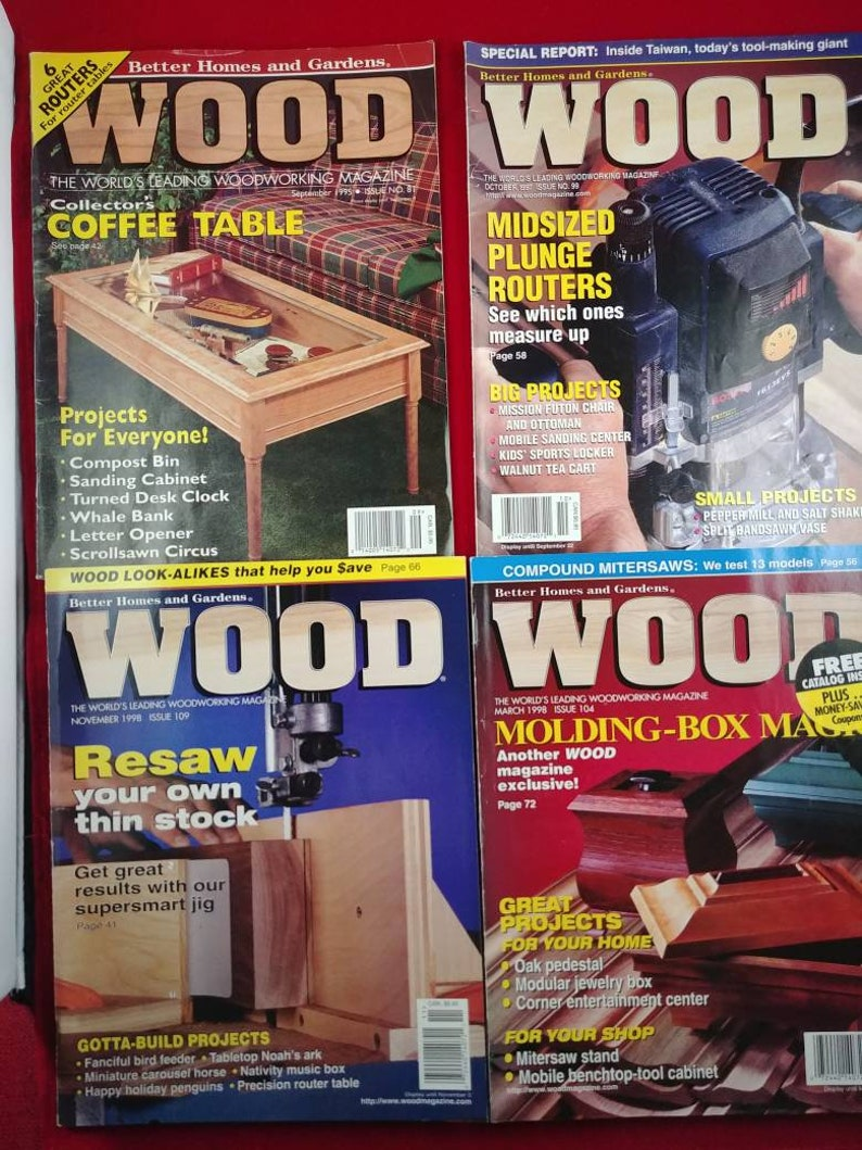 wood magazine better homes and gardens woodworking magazine