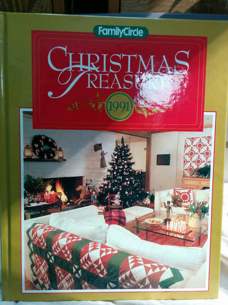 1991 Family Circle Christmas Treasury Book
